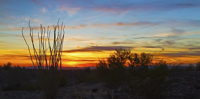 Sunset over Blythe, CA