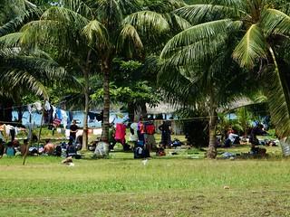 Cubans resting and waiting - La Miel