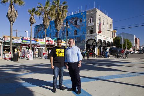 Nacho y Daniel en Venice Beach