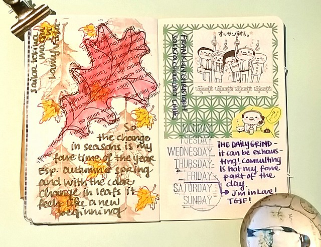 Traveling art journal. My pages in Ronay's book