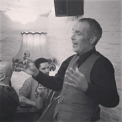 @stewart.buchanan at his best. BenRiach tasting. #whiskywithfriends #whisky #benriach