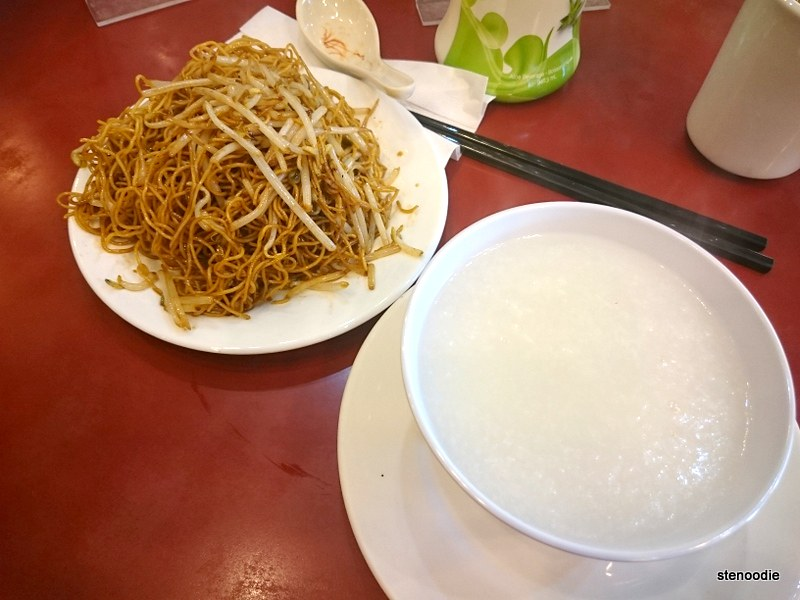 Plain Congee & Bean Sprout Fried Noodle