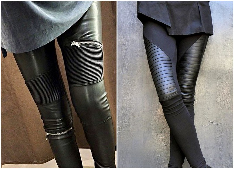 Biker leather pants