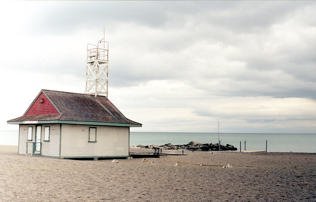 Landlocked Lifeguard Hut