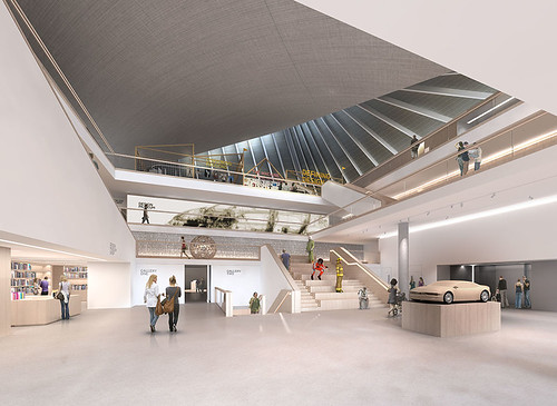 Design Museum Kensington render Ground Floor credit Alex Morris Visualisation