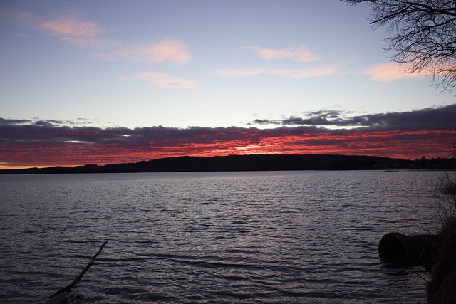 Karlsborg sunset fire