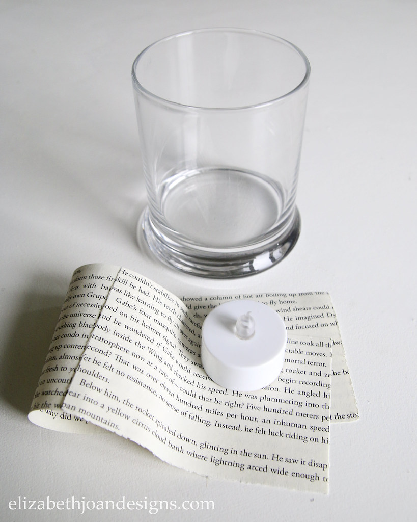 Book Page Candle Glass Jar Supplies