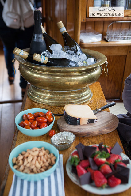 Fruit, cheeses and wines on the cruise tour