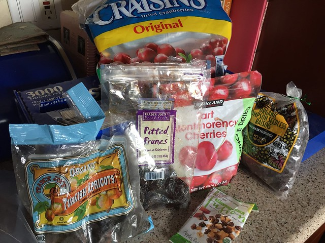Leftover dried fruits