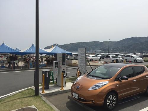 熱海 長浜海浜公園 EV急速充電器