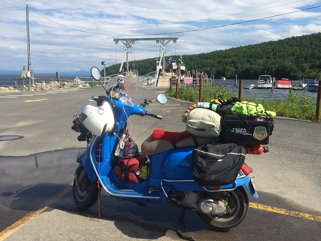 Scooters, Spiedies, and Blogging from the Adirondacks. July 19 - 21, 2015.