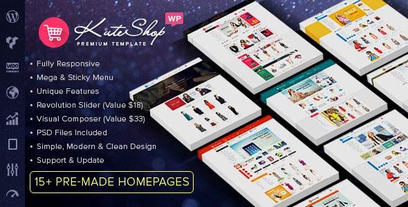 KuteShop v1.5.4 - Multipurpose WooCommerce Wordpres Theme