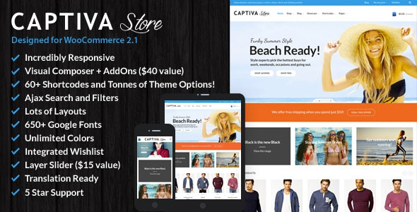 Captiva v1.9.7 - Responsive WordPress WooCommerce Theme