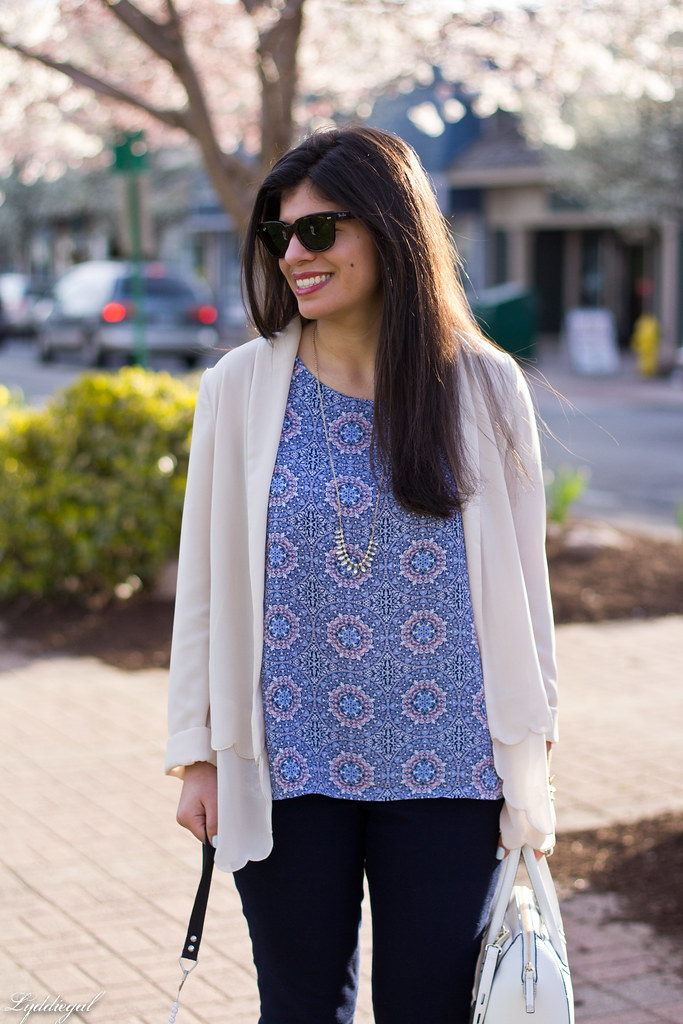 scalloped blazer, printed tank, navy pants, dog-9.jpg