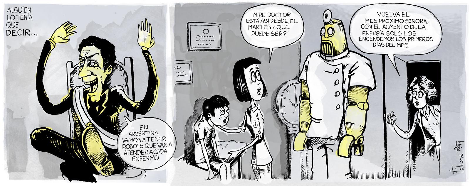 mauricio macri y los robots