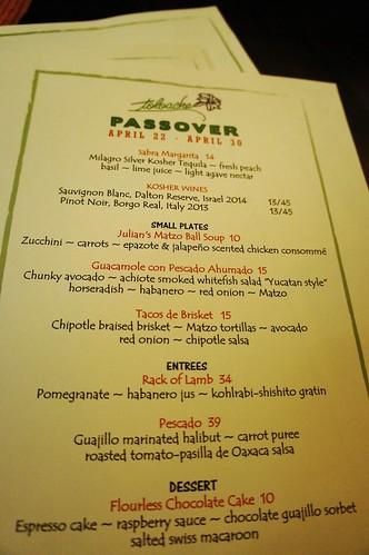 Toloache Passover Dinner