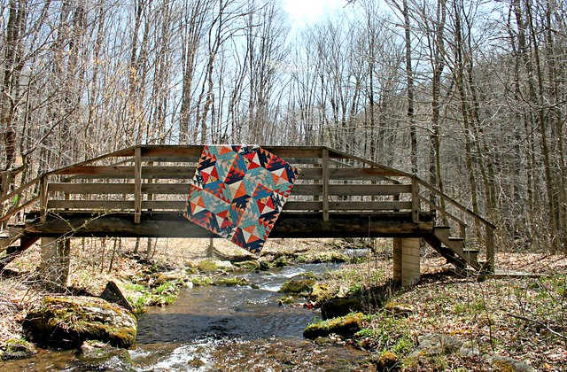 A Diamond Weave Quilt
