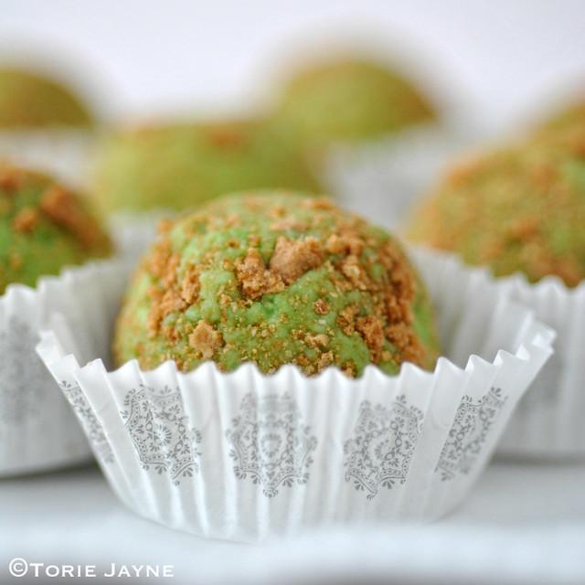 Handmade key lime pie chocolate truffles