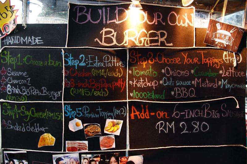 Big Papa Burger Menu