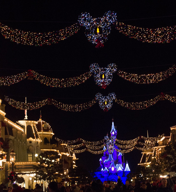 Disneyland Paris Christmas lights