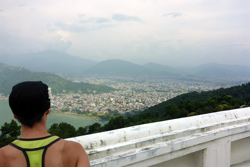 Looking out over Pokhara