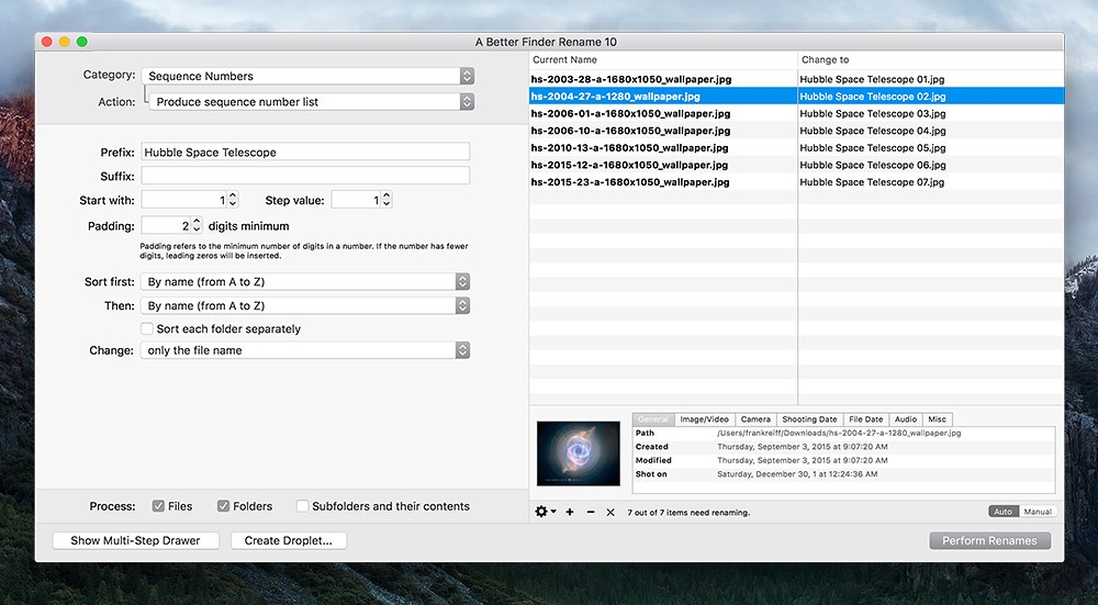 A Better Finder Rename 11 00 b11 – File, photo, and MP3 batch