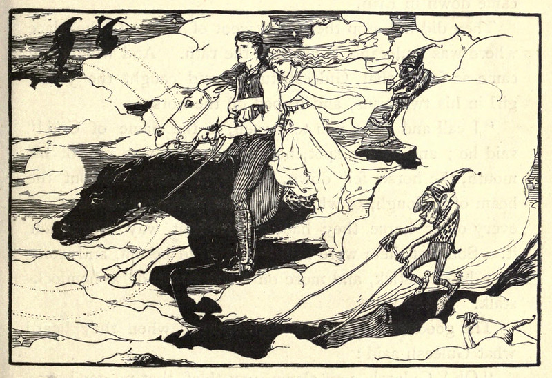 "John D Batten - Guleesh, illustration from ""Celtic Fairy Tales,"" 1892"
