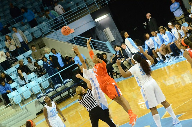 basketball: clemson @ unc