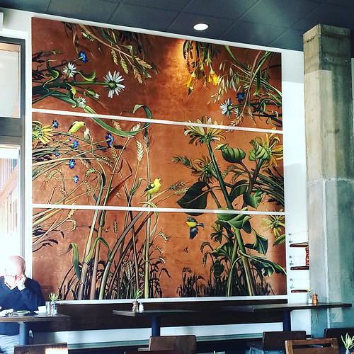 I like this mural at Macrina's.