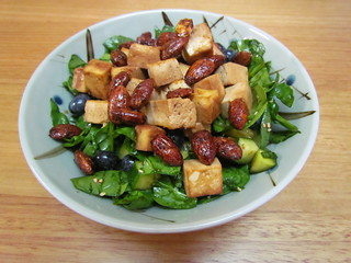 Blueberry Tamari Greens Bowl