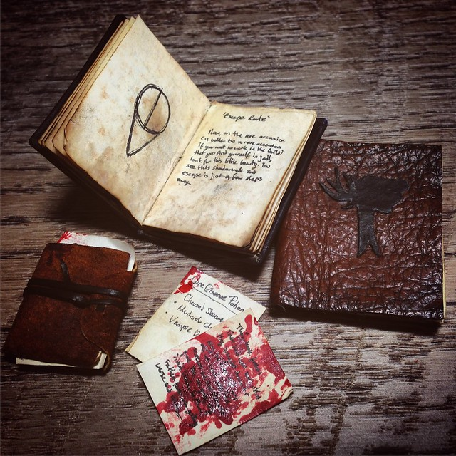 1/6th scale Skyrim books