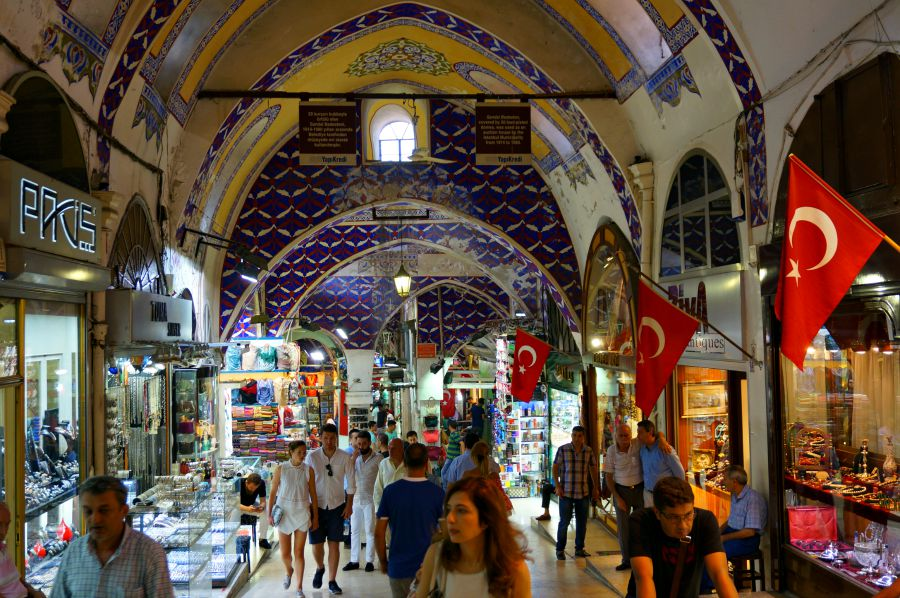 Interior of the Grand Bazaar