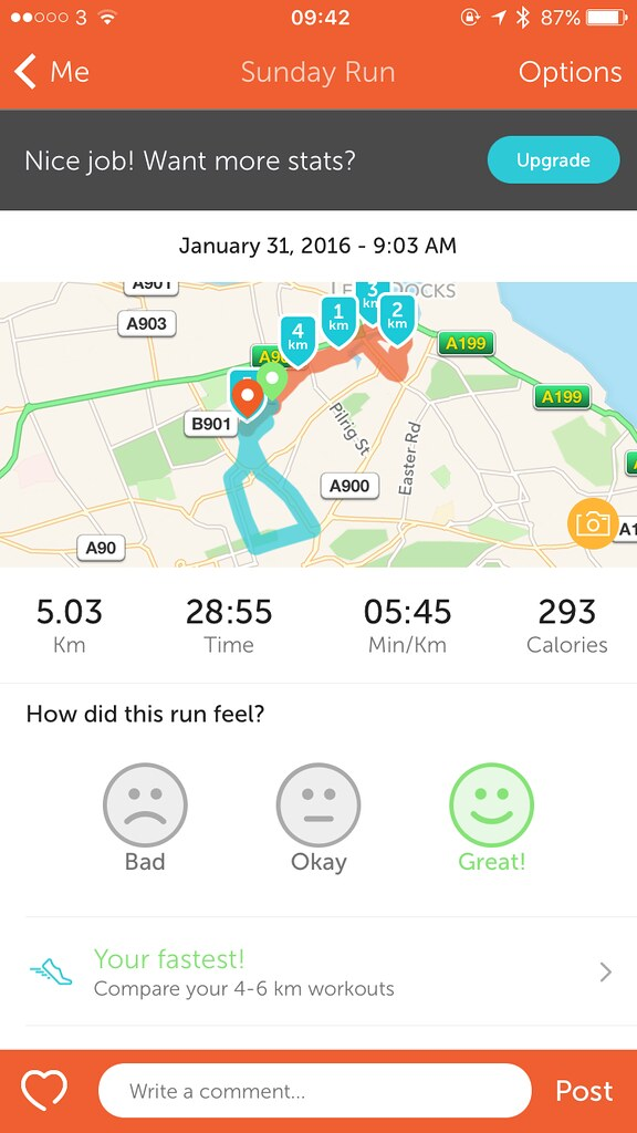 My first 5km run in under 30 minutes