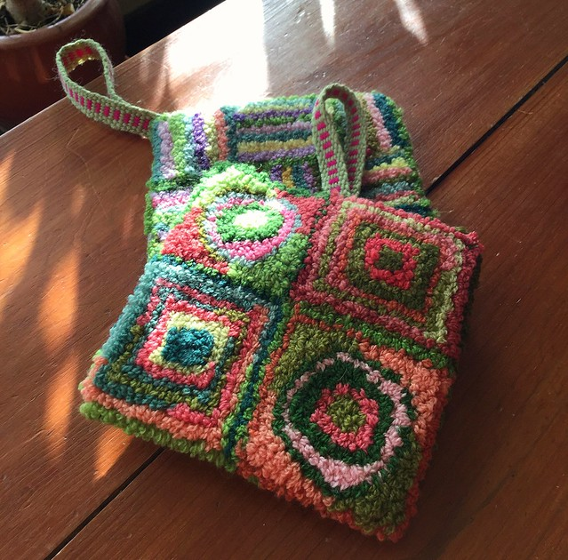 Rug Punch Potholders with Inkle Strap
