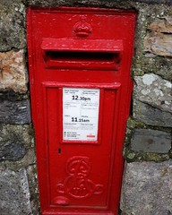 Edward VII Post box in wall Betws y Coed 38/366