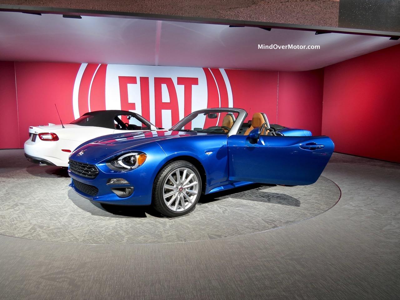 Fiat 124 Front Blue