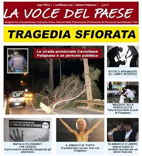 Locandina la voce del paese polignano 19 febbraio 2016
