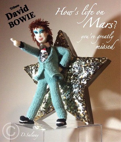 #David #Bowie #knitted #doll #dolls #icon #celeb #lifeonmars #hunkydory #1971 #denise #salway #singer #musician #heros