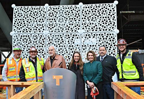 Congresswoman Nancy Pelosi Celebrates Transbay Construction Progress