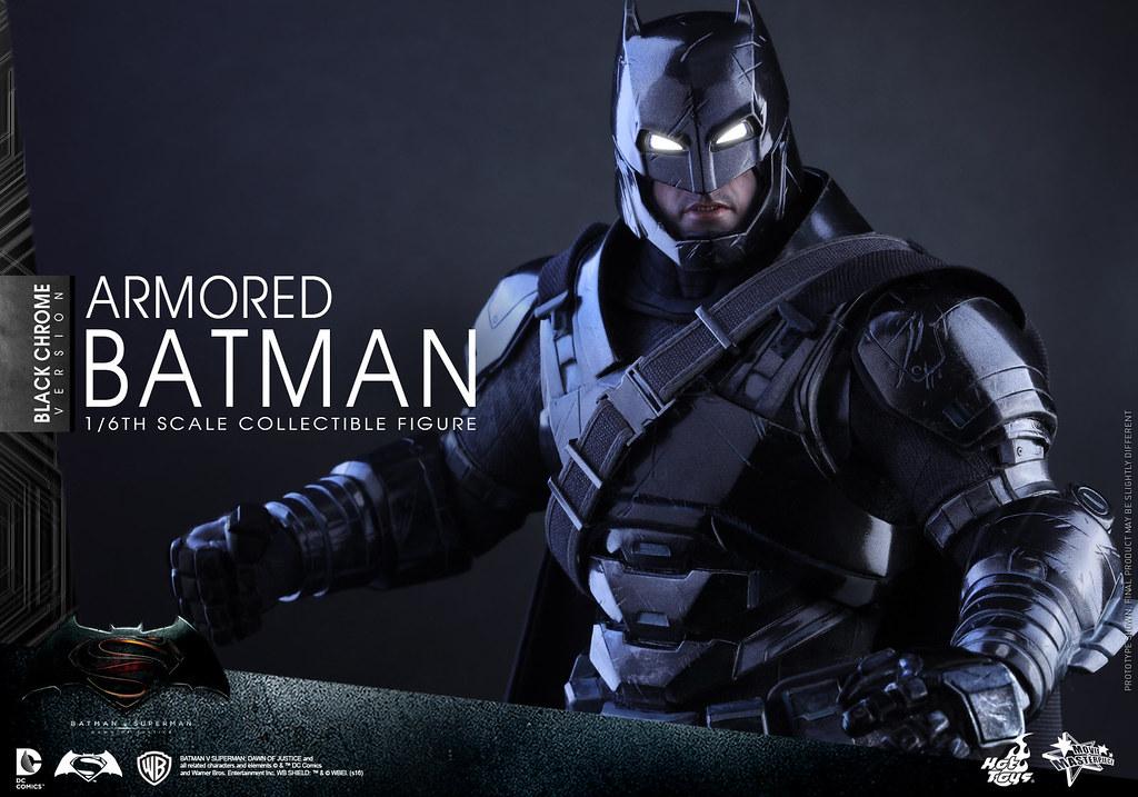 Hot Toys × :CHOCOOLATE – MMS356 – 蝙蝠俠對超人:正義曙光【重裝蝙蝠俠。黑電鍍特別版】1/6 比例 Armored Batman Black Chrome Version
