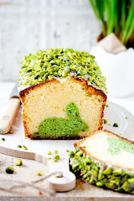 Easter surprise cake-Lemon&Pistachio Marble Cake