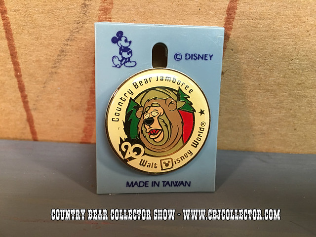 1991 Walt Disney World 20th Anniversary Country Bear Pin - Country Bear Collector Show #022