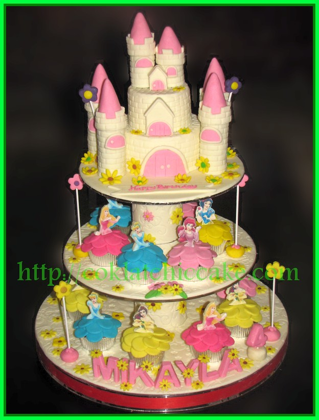 Cake Castle tier cupcake