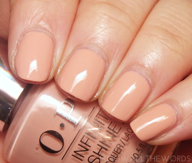 OPI Infinite Shine Half Past Nude