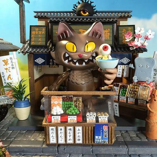 wananeko-yokai-diorama