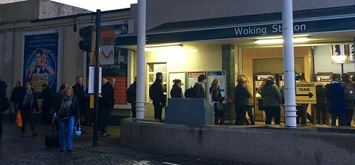 Queue at Woking