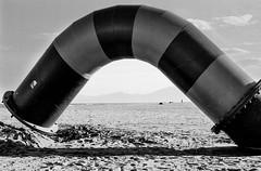 Le tuyau sur la plage