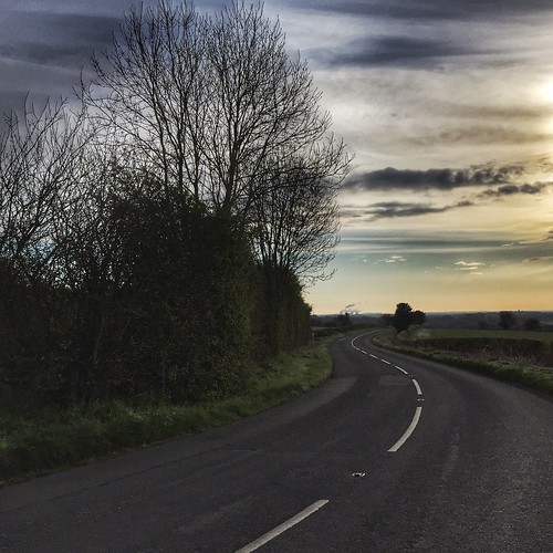 road trees sky clouds sunrise square derbyshire whitelines highwaycode 366 scottsimpson coallane iphone6