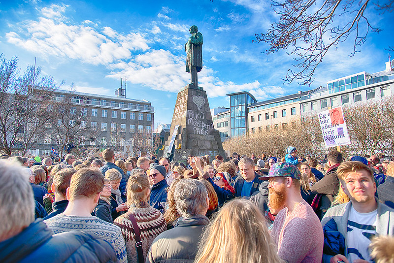 Protest in Reykjavík