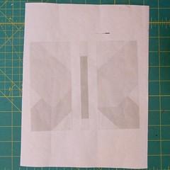 Foundation printed on Freezer Paper